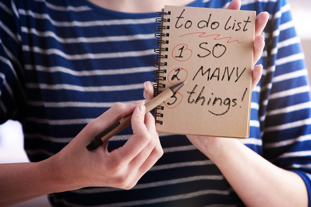 to do list, be organised